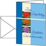 Sigel Geburtstagskarte Trio A6 Nr. DS610 PA 10Stk + Umschlag