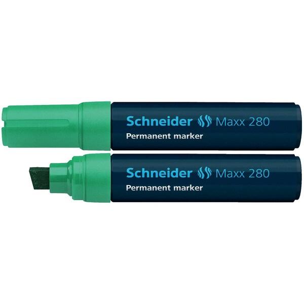 Schneider Permanentmarker Maxx 280 Nr. 128004 grün 4-12mm Keilspitze