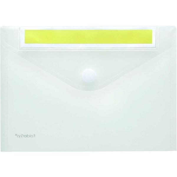 Foldersys Sichttasche A5 quer PP Index Nr. 40162-04 PA 10St transparent/gelb