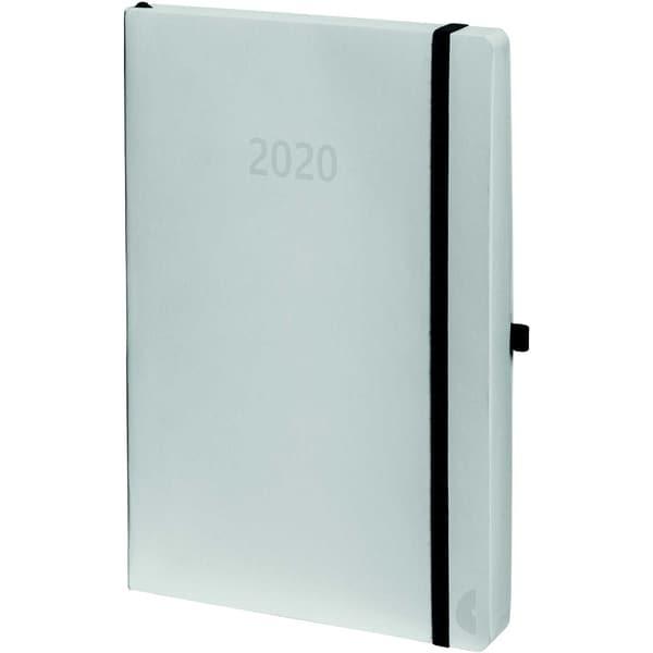 Chronoplan Buchkalender A5 2020 Nr. 50950 1T/1S Softcover Weiß