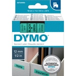 Dymo Schriftbandkassette S0720590 12mmx7m schwarz auf grün45019 D1