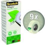Scotch Klebeband Magic 900 19mm x 33m Nr. 90019339 auf Wasserbasis PA=9 Roll.
