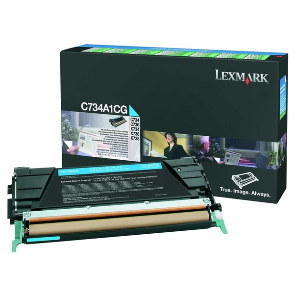 Lexmark Toner C734A1CG 6.000Seiten cyan