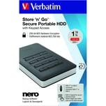 Verbatim Festplatte Store'n'Go 1 TB Nr. 5340125Zoll USB3.1 schwarz/silber