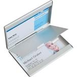 Sigel Visitenkarteetui Twin Aluminium Nr. VZ136. für 30 Karten. silber