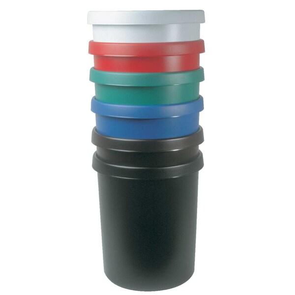 Helit Papierkorb 45 Liter schwarz Nr. H6106295 mit Griffrand Höhe 41cm