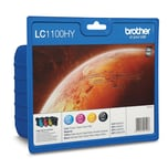 Brother Tintenpatrone LC1100HC Set BK/C/M/Y PA4St