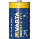 VartaBatterie Industrial D/Mono Alkali-Mangan Nr. 04020211111. 1.5V. 17.000mAh. PA= 20Stk
