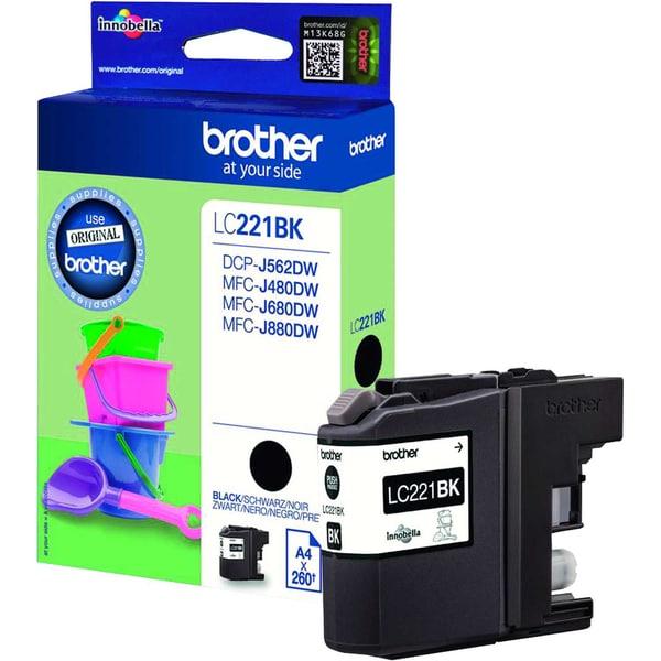 Brother Tintenpatrone LC221BK 260Seiten schwarz