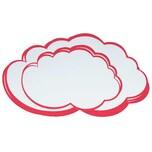 Franken Moderationskarten Wolke weiß/rot Nr. UMZ W 25 x42cm PA 20 Stück