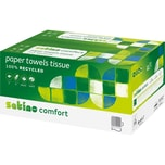 Wepa Papierhandtücher Topline 100% Recycling 25x33cm hochweiß Nr. 277150. PA= 24x 128 Blatt