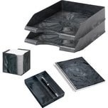 Jalema Schreibtischset Marmor 7438901 5teilig anthrazit