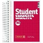 Brunnen Collegeblock Student A6 kariert Nr. 1067392 160 Blatt 70g rot