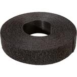 Klettstreifen Velcro 5m unperf. sw