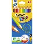Bic Kids Farbstift EVOLUTION ecolution Nr. 907832 sortiert PA 12Stk