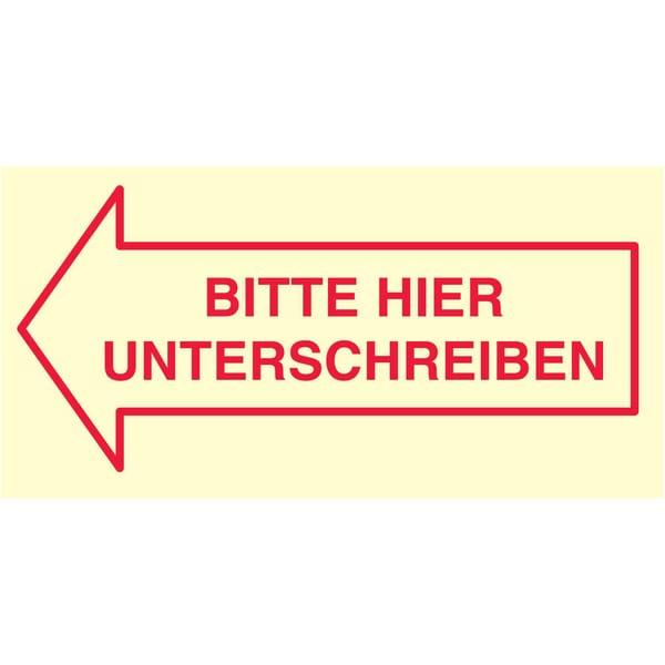 """Print Inform Haftnotiz """"Unterschreiben"""" Nr. 5651-01-UNT 3 Block à 50 Blatt"""