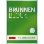 BRUNNEN Briefblock A4 blanko Nr. 1052826. 90g. grün. 50 Blatt
