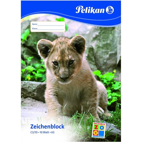Pelikan Zeichenblock C3/10 A3 weiß Nr. 224832 10 Blatt chlorfrei100g/m²