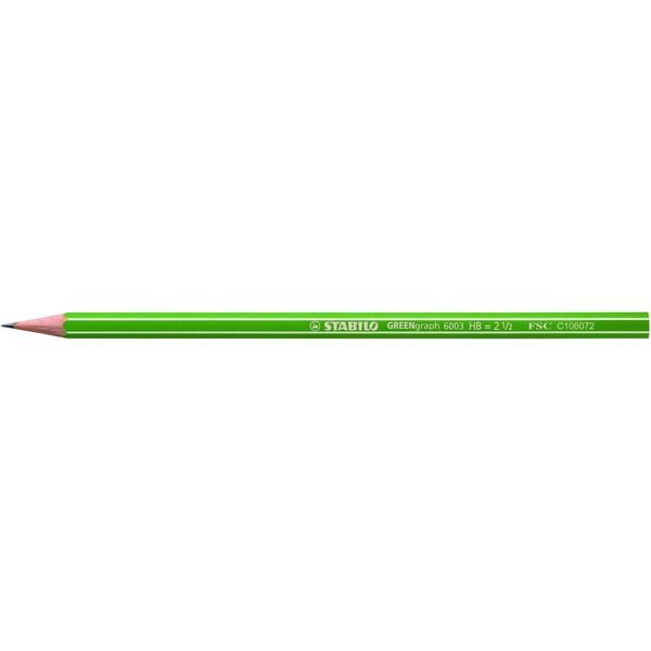 Stabilo Bleistift Greengraph 6-kant Nr. 6003/ HB Schaft grün