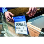 Durable Kennzeichnungstasche A5 quer Nr. 1752-07 mit Bügel blau PA 50Stk