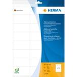 Herma Adressetikett 70x36mm weiß Nr. 4443. PA= 480Stk. Schreibmaschine