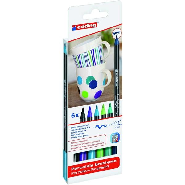 edding 4200/6 S porcelain brushpen cool colours