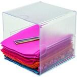 Deflect-o Organisationsbox Cube 350401 1Fach glasklar