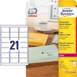 Zweckform Adress-Etikett Nr. L7560-25 PA 525St transparent 635x381mm bedr.