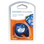 Dymo Etikettenkassetten-System S0721660 12mmx4m. schwarz auf weiß. Plastikband