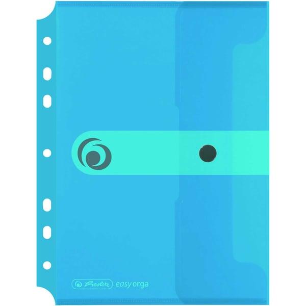 Herlitz Sammelhülle easy orga to go A5 Nr. 11293826 transp. blau zum Abheften