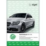 Sigel Fahrtenbuch A5 hoch PKW & LKW Nr. FA514 32 Blatt mit Klammerheftung