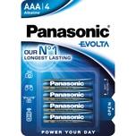 Panasonic Batterie Evolta AAA Alkali Nr. LR03EGE/4BP. LR03. 1.5V. PA= 4Stk.