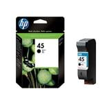 HP Tintenpatrone 51645AE Nr. 45 für DJ850C/870C/1600C 42 ml schwarz