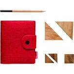 Van Moose Notizbuch A6 liniert Filz rot Nr. 514643 60 Blatt