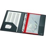 Velobag Reißverschlusstasche XS A4 Nr. 4354020 rote Kante abheftbar