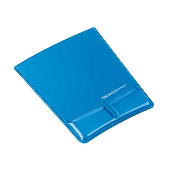 Fellowes Handgelenkauflage Health-V Gel Nr. 9182201 Mauspad Crystal blau