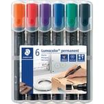 STAED Lumocolor Permanent Marker 6-er Nr. 350 WP6 Keil farblich sortiert