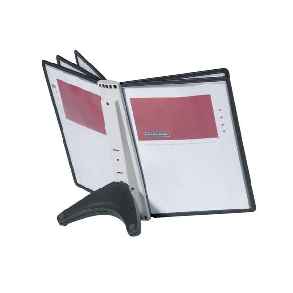 Durable Display-System Sherpa 554001 5 Tafeln A4 5606 schwarz