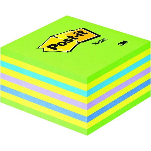 Post-it Haftnotiz 76x76mm neongrün Nr. 2028G Würfel à 450 Blatt