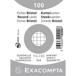 ExacomPTA Karteikarte A7 kariert weiß Nr. 10200SE. PA= 100Stk