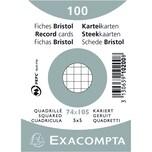 ExacomPTA Karteikarte A7 kariert weiß Nr. 10200SE PA 100 Stück