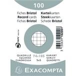 ExacomPTA Karteikarte A7 kariert weiß Nr. 10200SE PA= 100 Stück