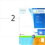 Herma Superprint-Etiketten Nr. 4628 weiß PA 400Stk 210x148mm permanent