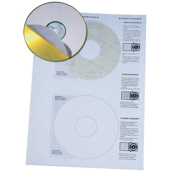 Soennecken CD-Etikett Nr. 5770 PA 200St weiß Ø 116mm bedruckbar