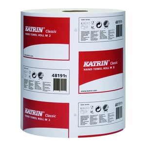 Katrin Handtuchrolle Classic M2 481911 205x380mm weiß 6 Rl./Pack.