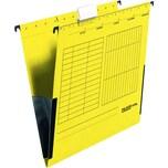 Falken Hängetasche A4 gelb Nr. 11288032 PA 5St mit Leinenfrösche