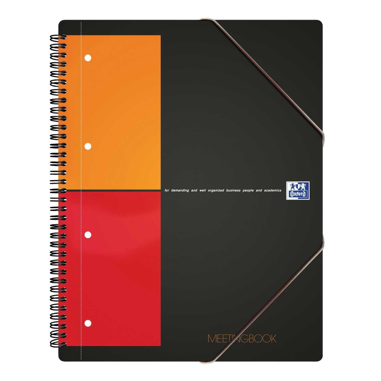 Oxford International - Meetingbook 357001701 A4+ kariert 5mm 80Bl.