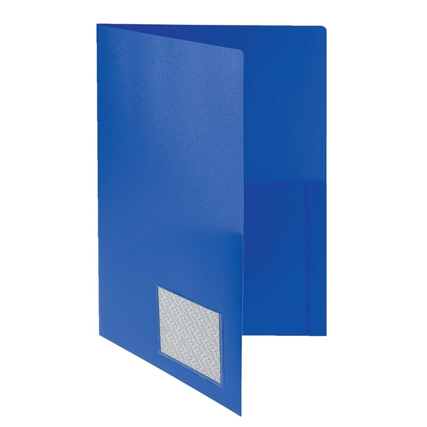 Foldersys Broschürenmappe A4 PP m.Klarsichttasche blau 10008-40