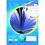 Landré Oktavheft A6 liniert 32 Blatt Nr. 100050477 32 Blatt Lineatur 51
