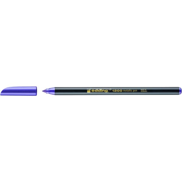 Edding 1200 Fasermaler metallic violett Nr. 1200078 Strickstärke ca. 1-3mm